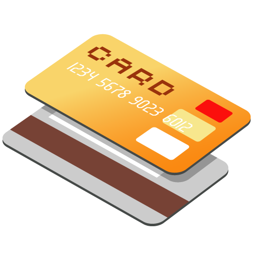 Credit Card Orange High Quality PNG 23524