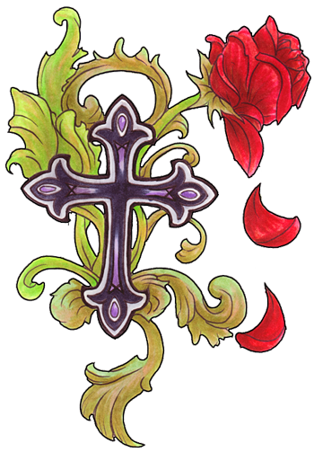 PNG File Cross Tattoos Clipart 8033