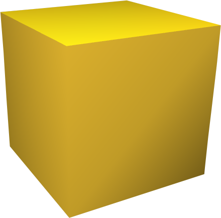 Yellow Cube Transparent Image 18945