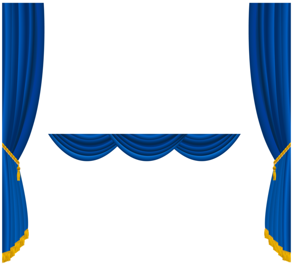 Blue Curtain Png Images 346
