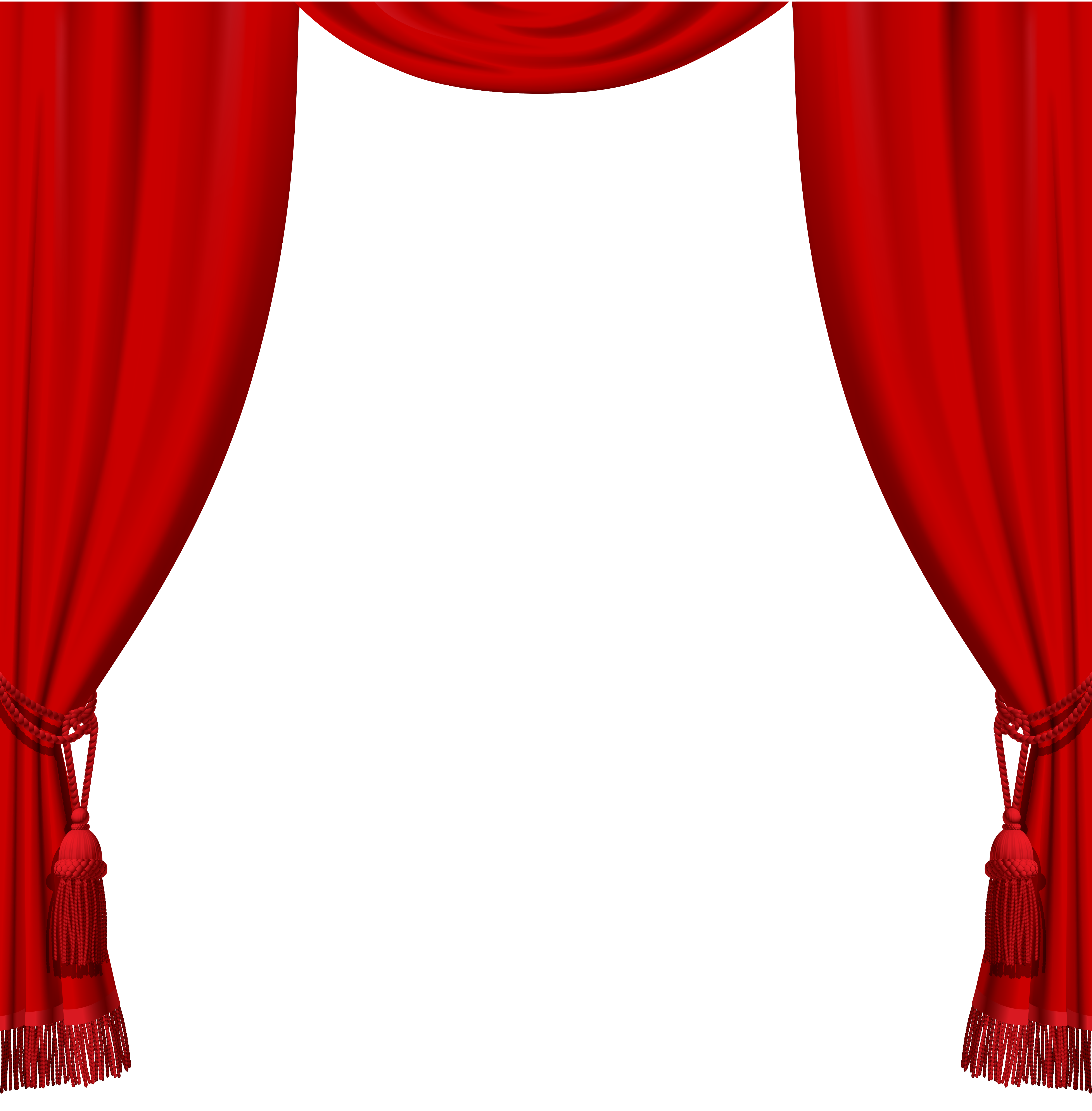 Red And White, Curtains Png Images