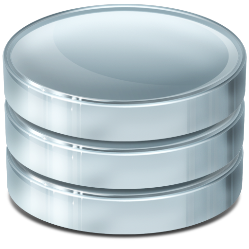 Silver And Blue Database Transparent 25434