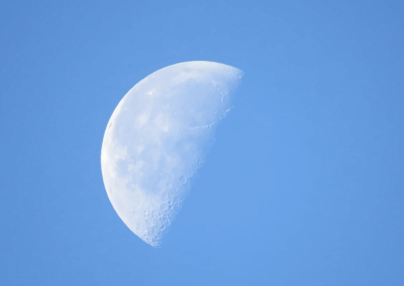 Half Moon In Daylight Png 1237