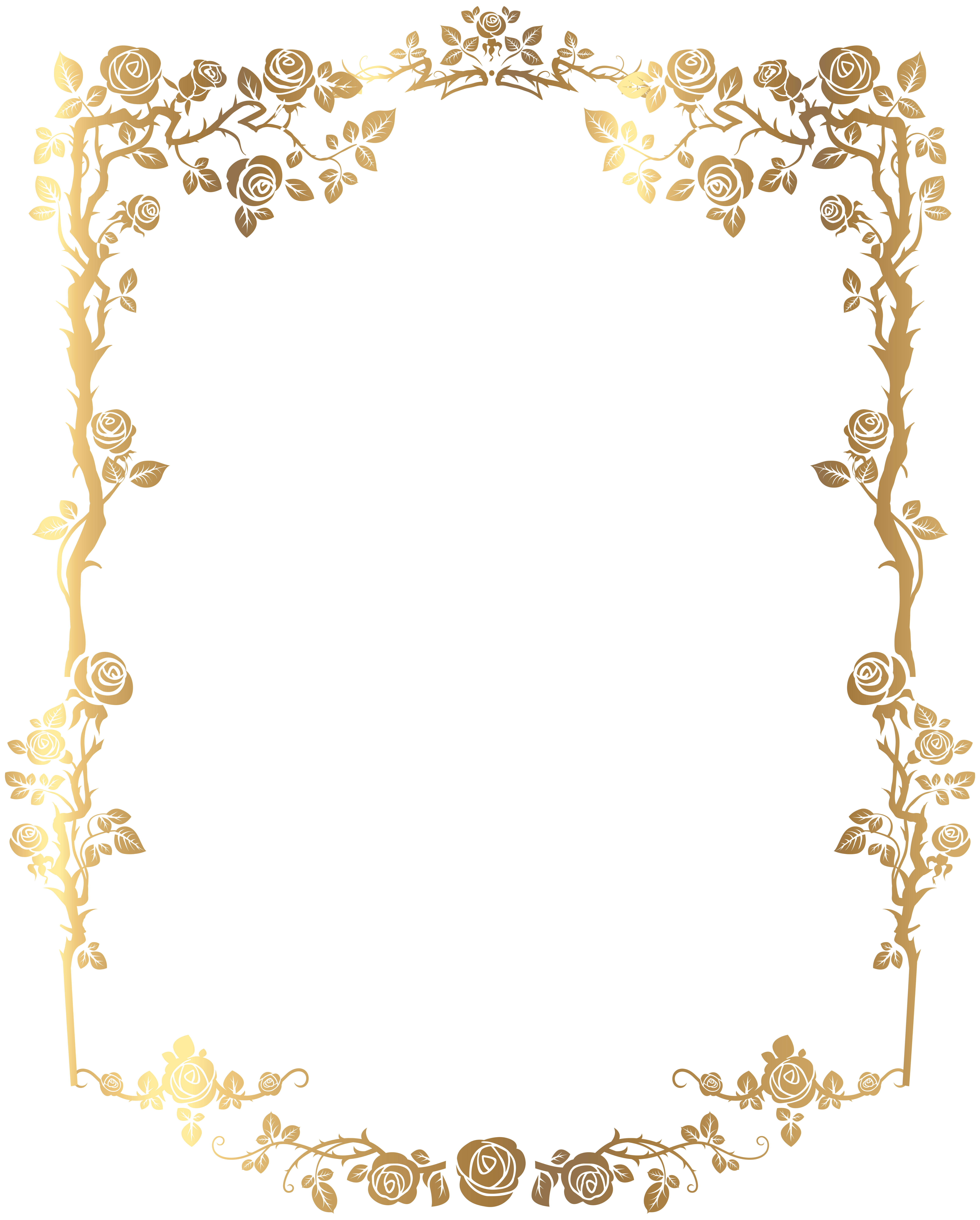 Golden For Photo Decorative Border Amazing Image PNG Images
