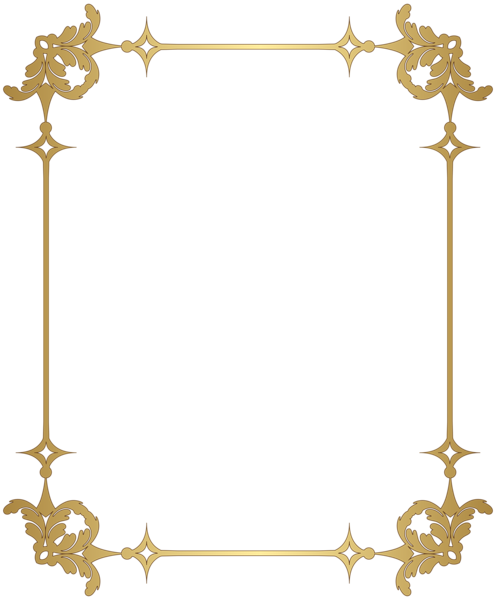 Golden Decorative Border PNG Picture 25198