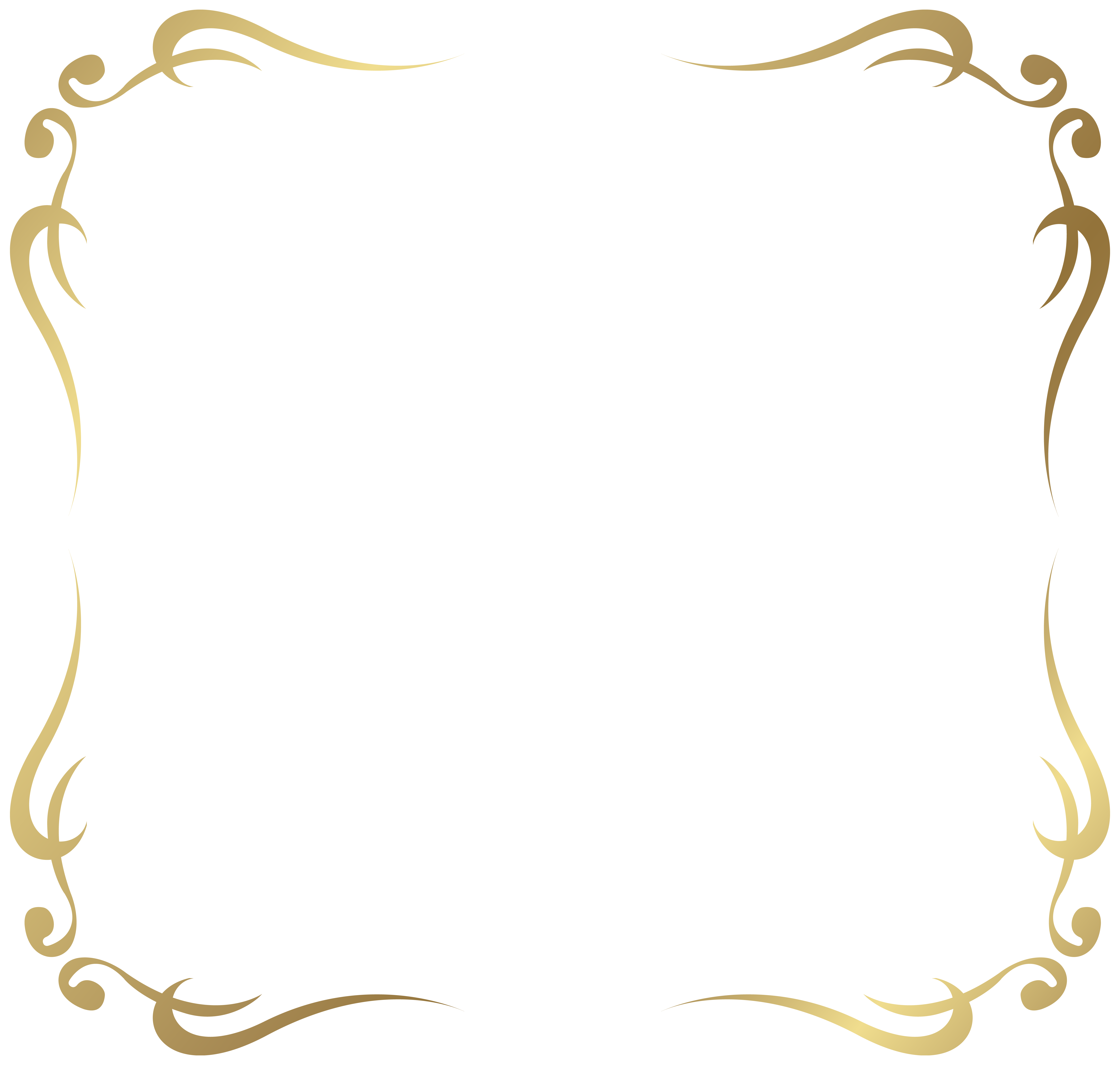Shaped Decorative Border Vector