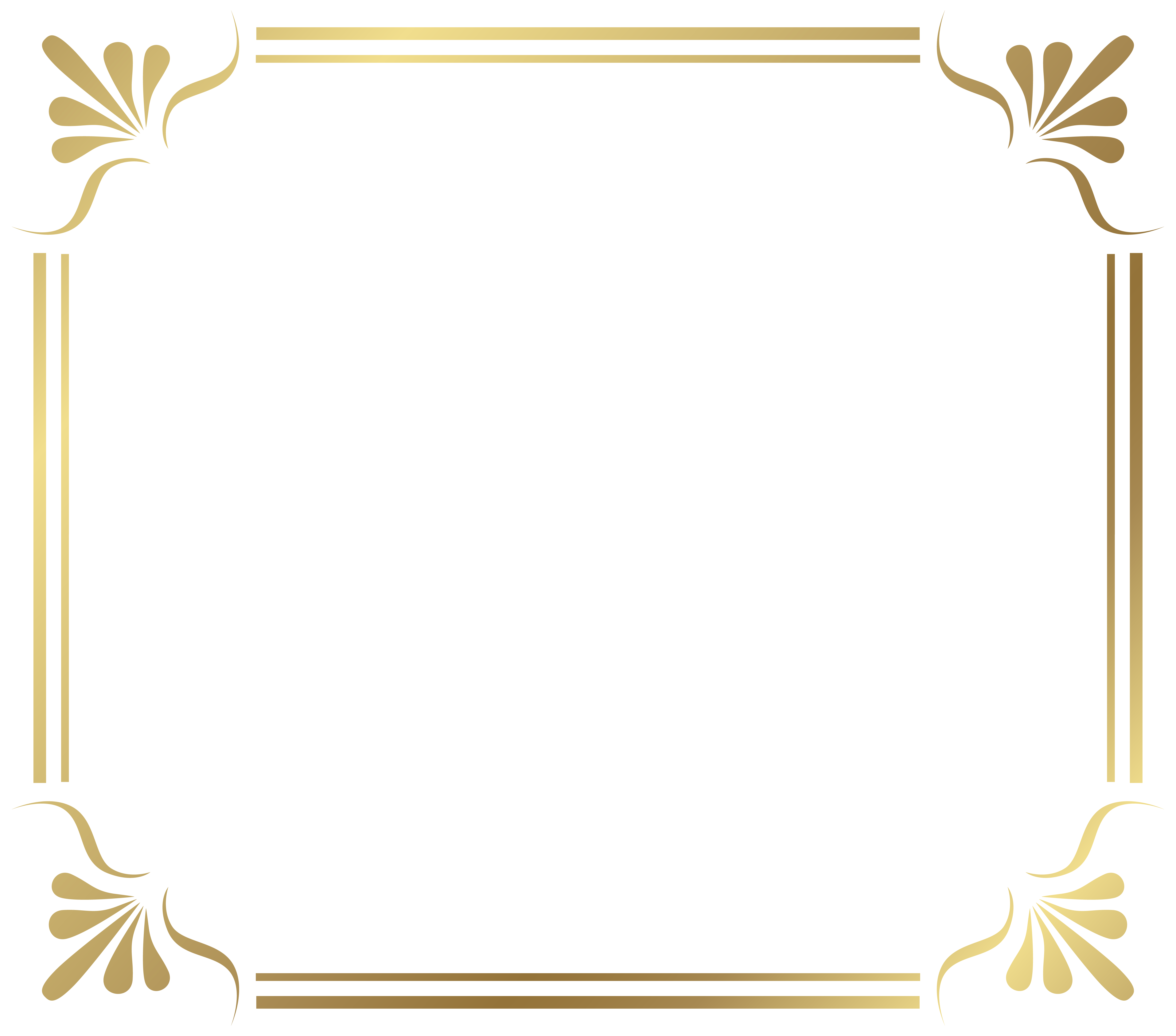 Golden Decorative Border Transparent Png PNG Images