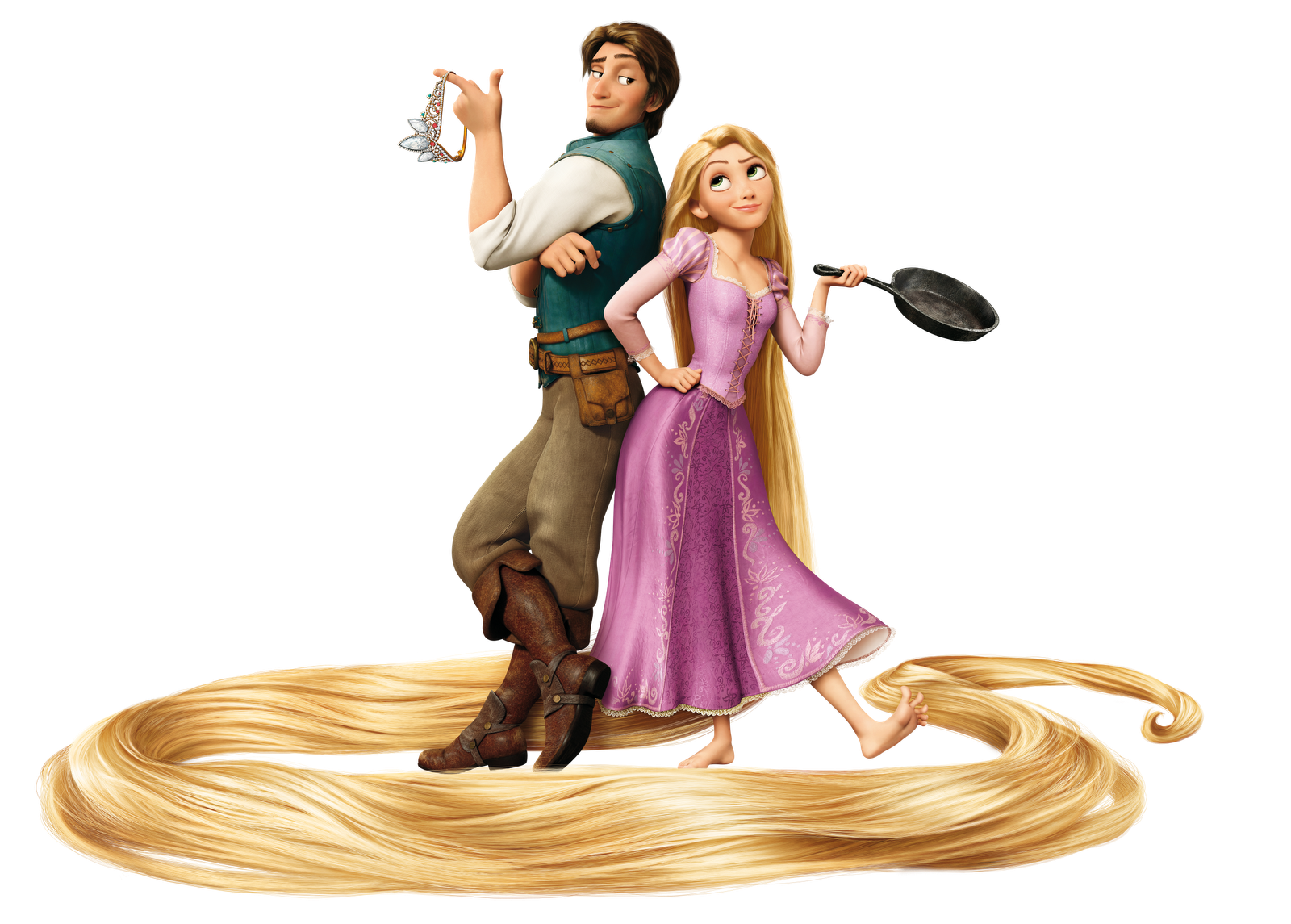 Gold Girl And Man Disney Pascal Pictures 2155