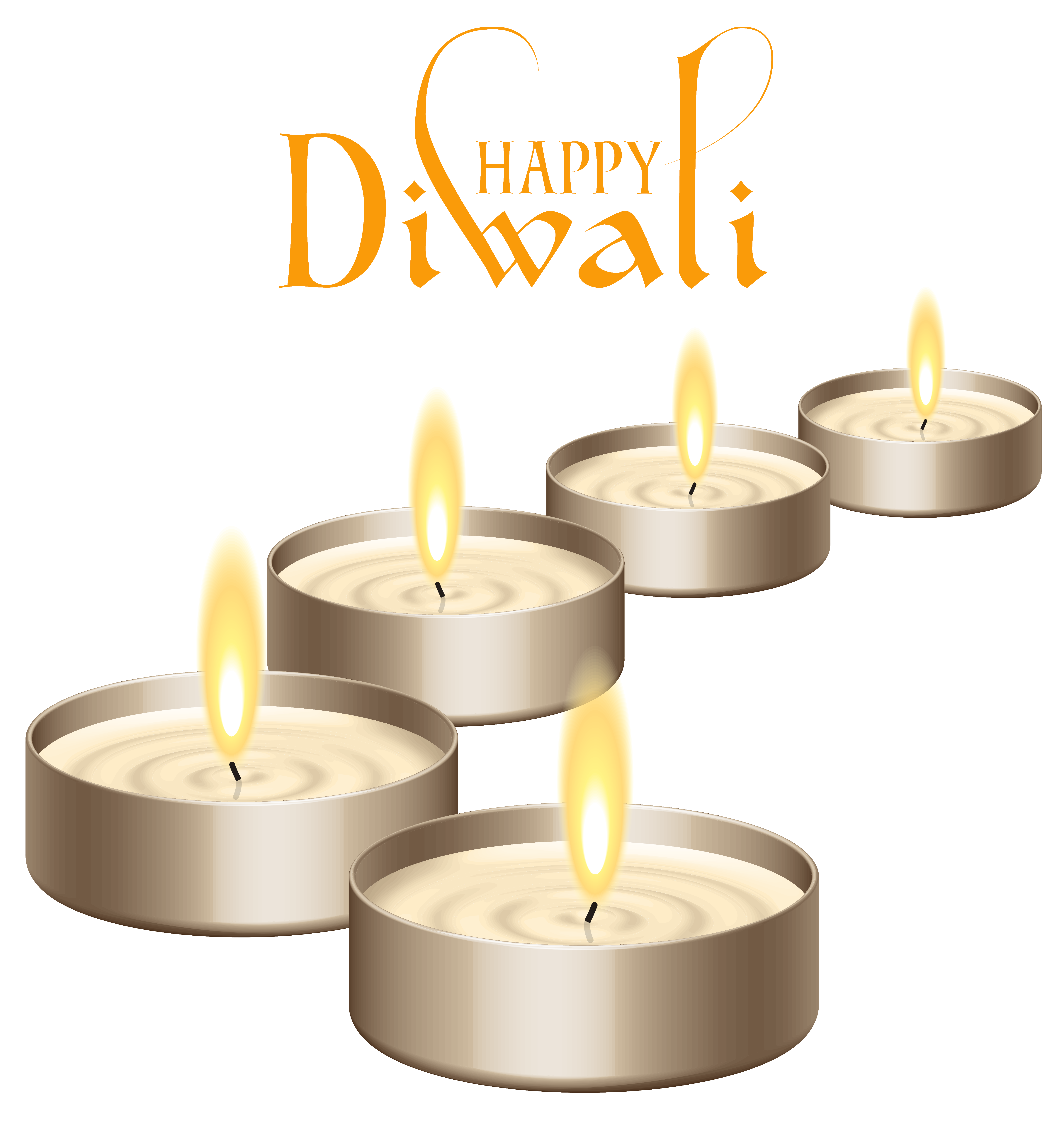 Happy Diwali Candles Png Clipart Images