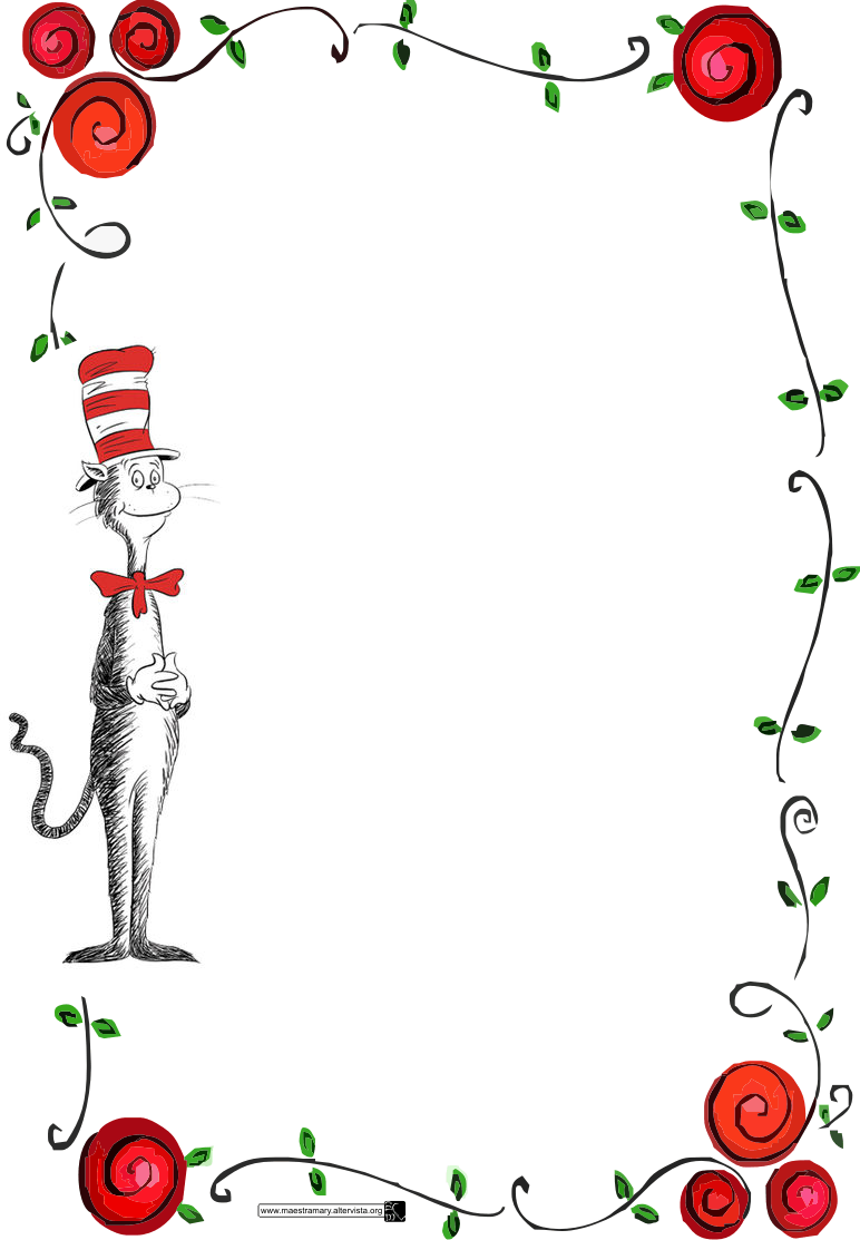 Cat In Hat Border