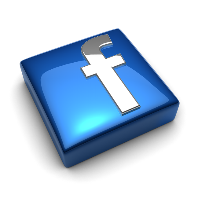 Facebook Logo Square Glossy 6373