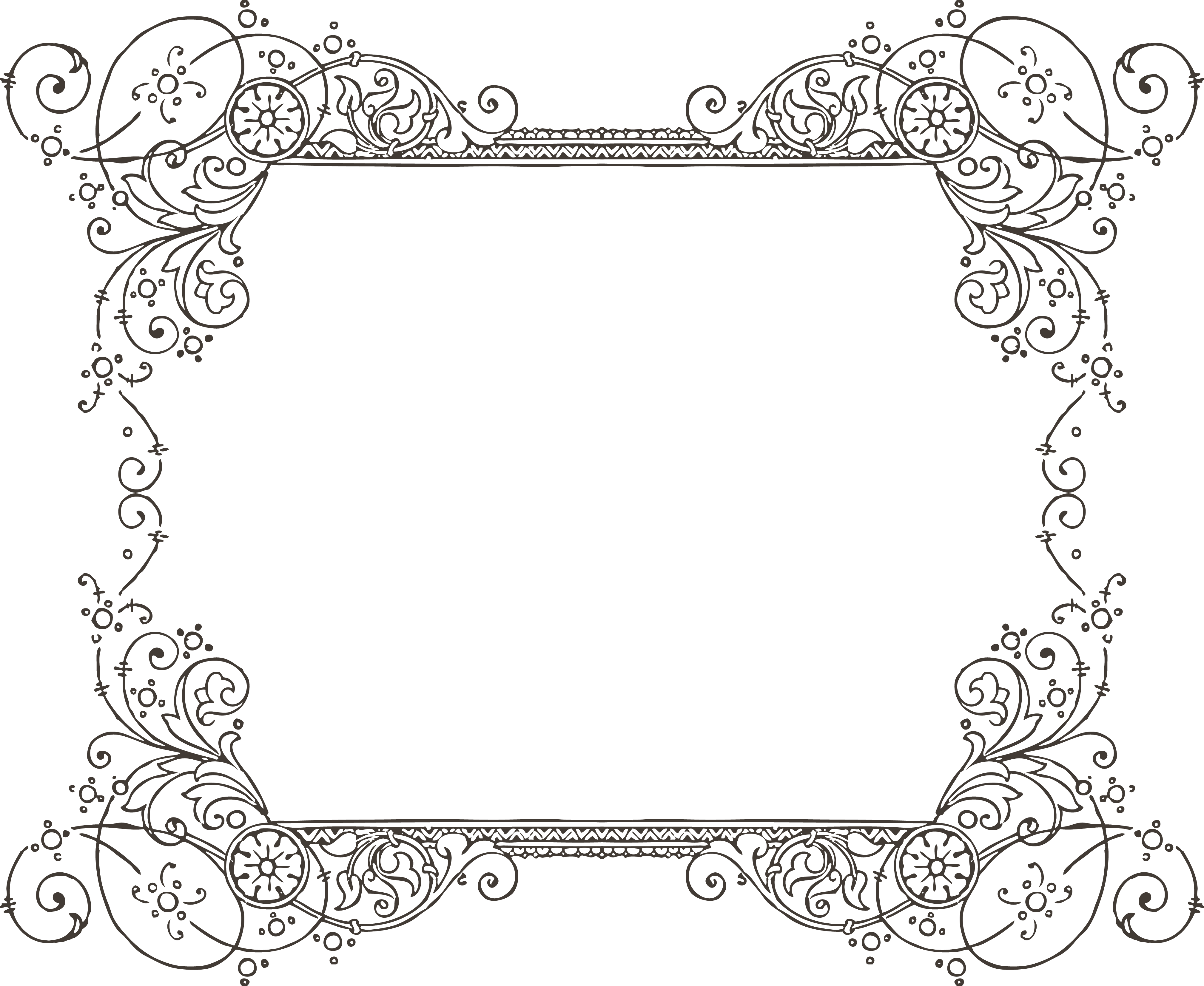 Fancy Wedding Border Vector