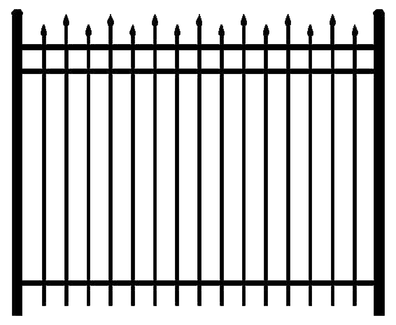 Fence, Metal, Black Transparent Images  5090
