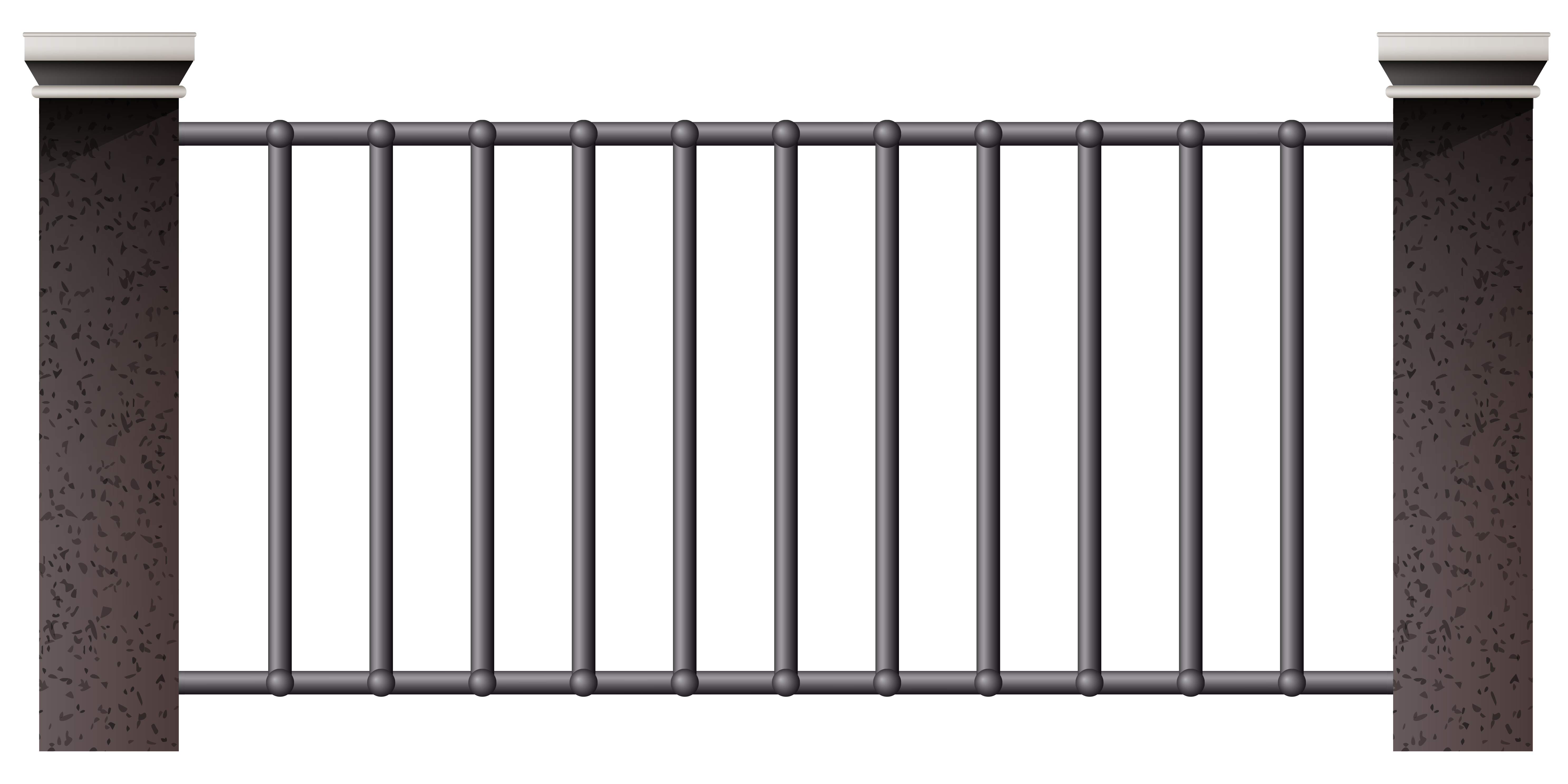 House Metal Fence Image Clipart