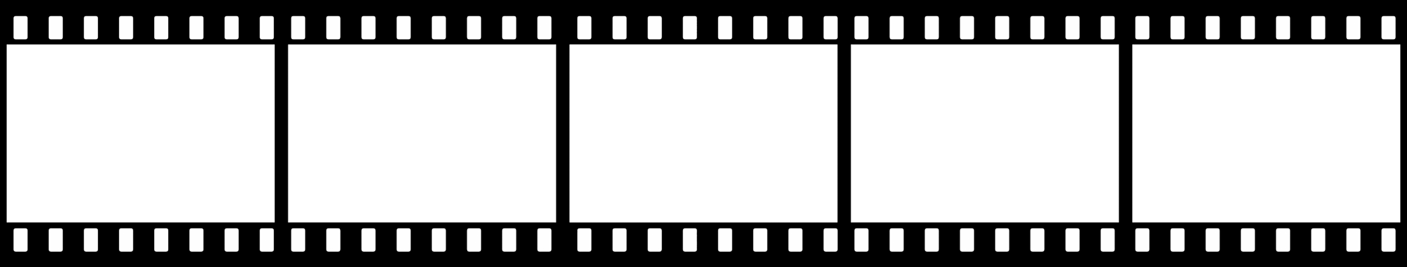 Blank Film Strip Movie Transparent Background PNG Images