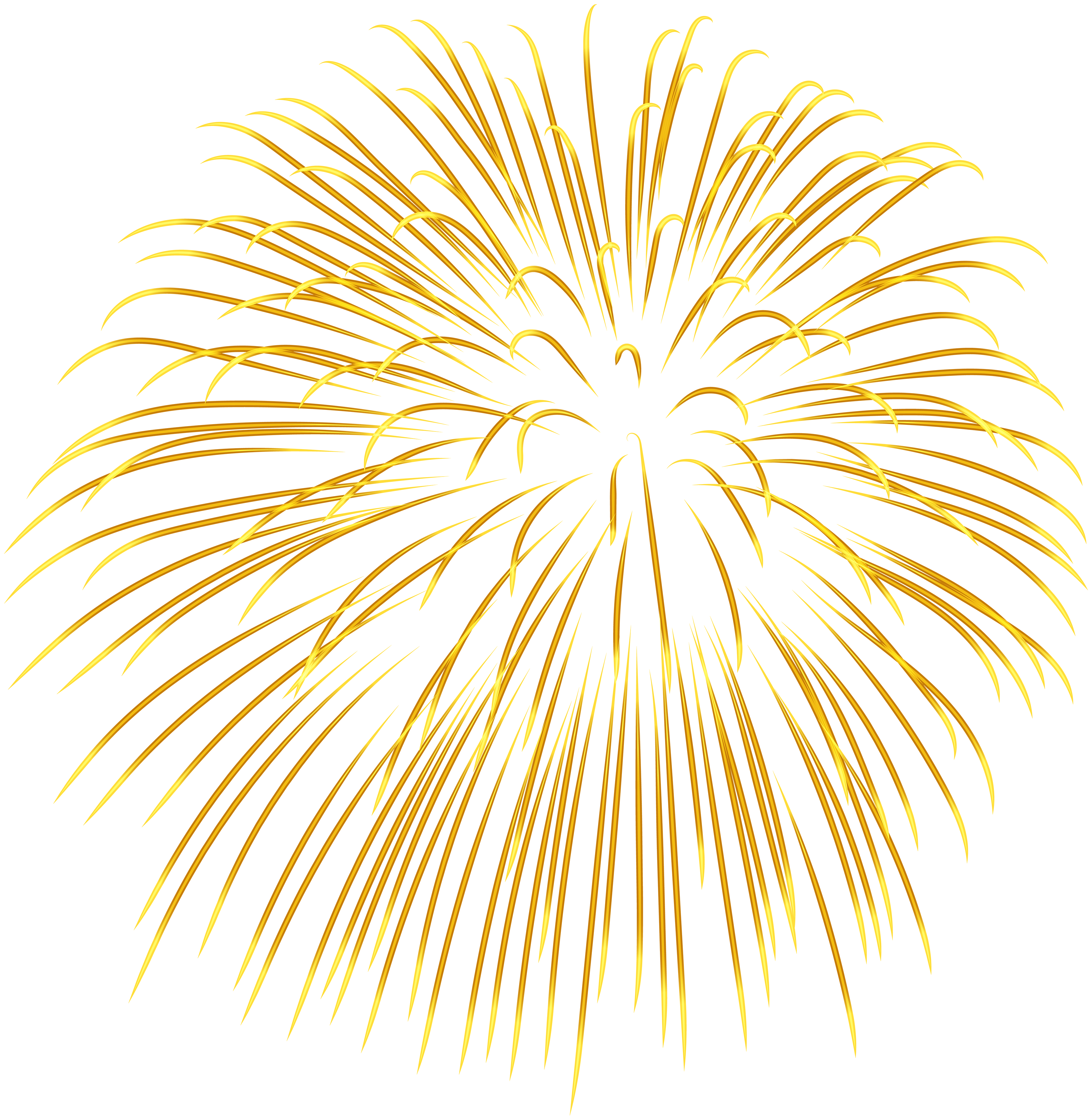 Golden Yellow PNG Fireworks, Yellow, Pictures Fireworks