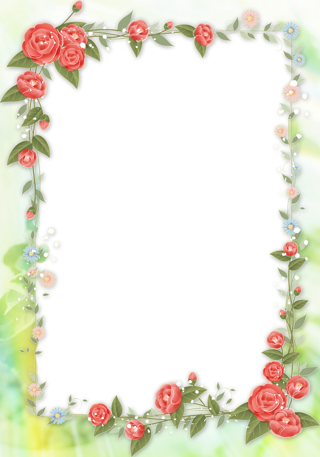 Floral Patterned Picture Frame Leaf Frame Edges 26602