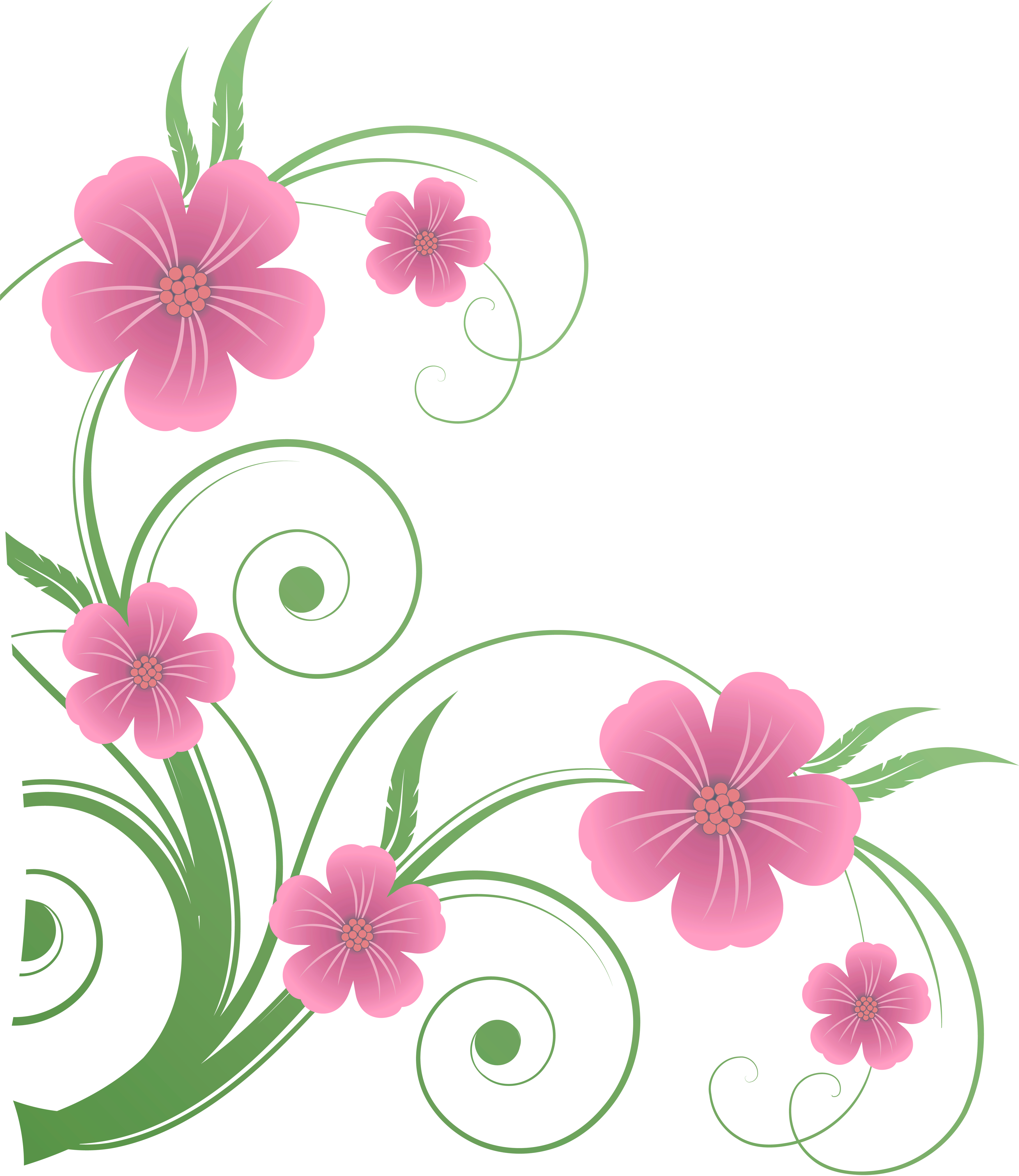 Flowers Png Vector Clip Art 6486