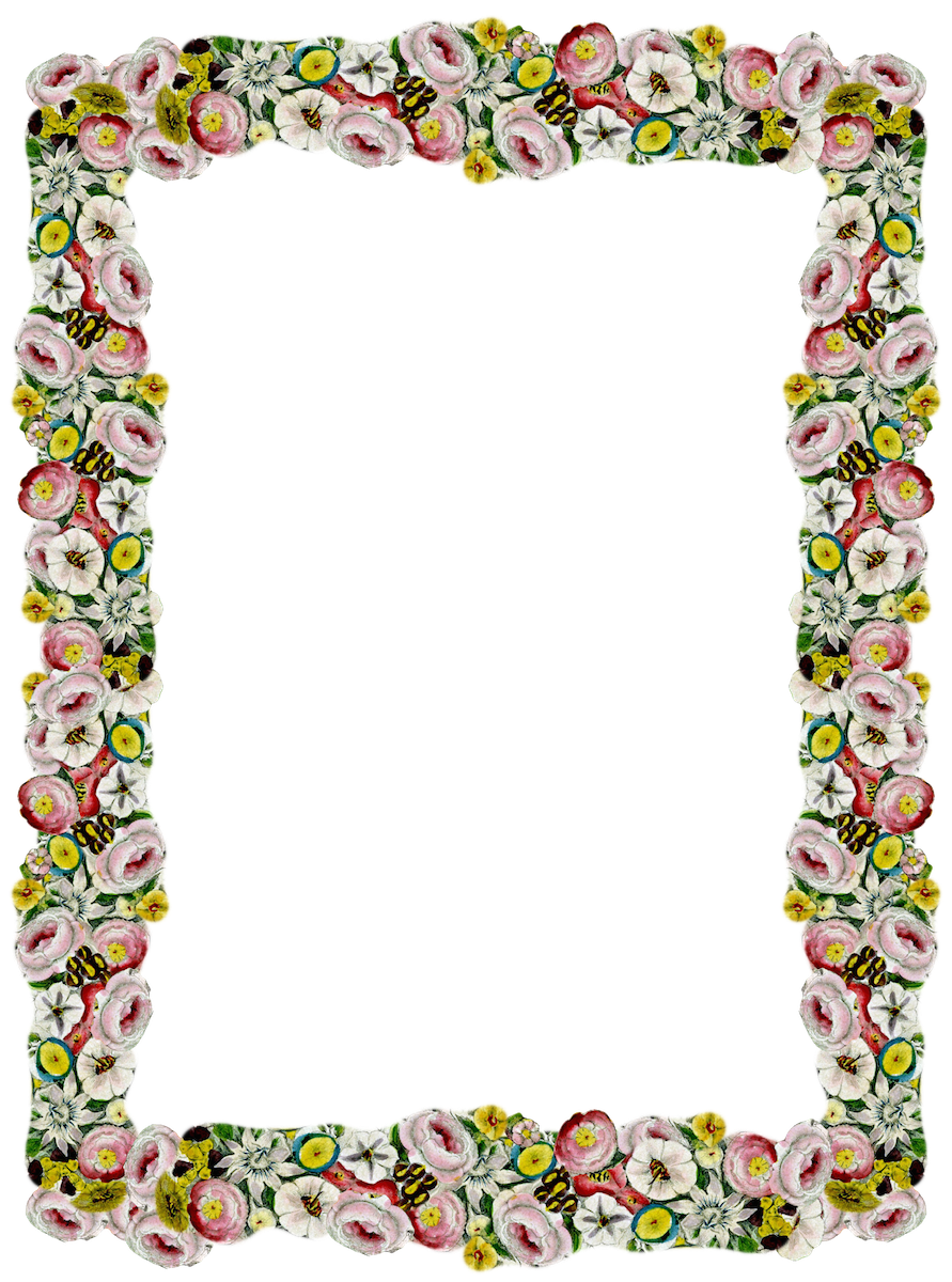 Download Free Transparent Png Image Digital Vintage Flower Frame