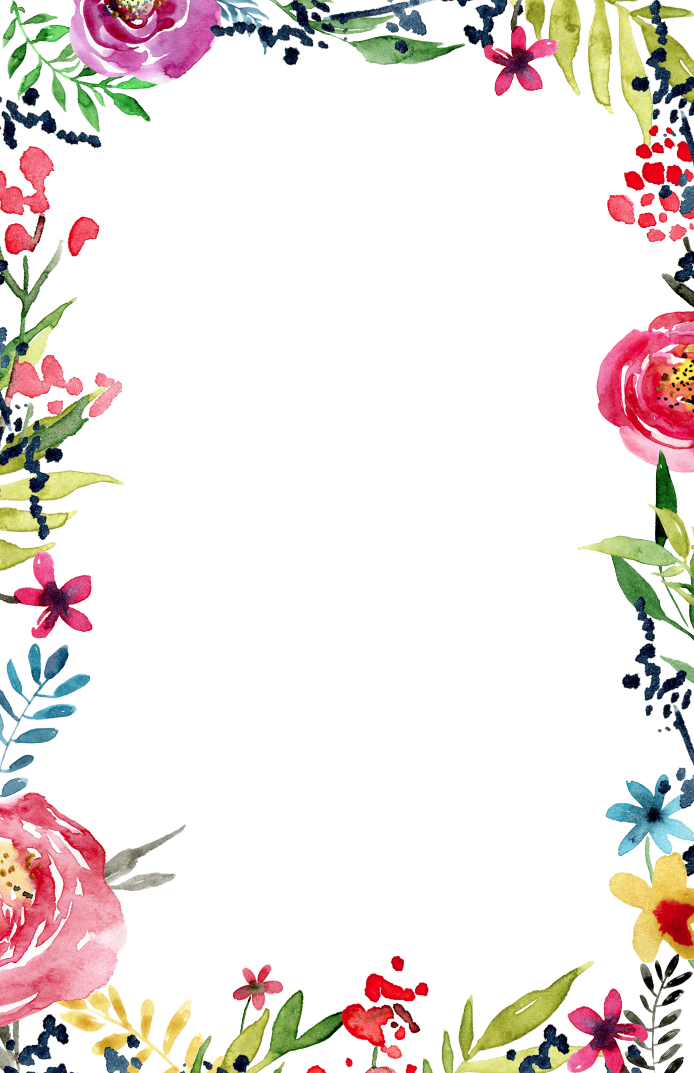 floral borders invitations png 5636 transparentpng