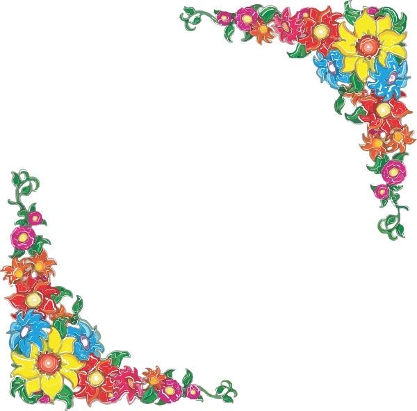 Flower Border Clipart At Picture 5626