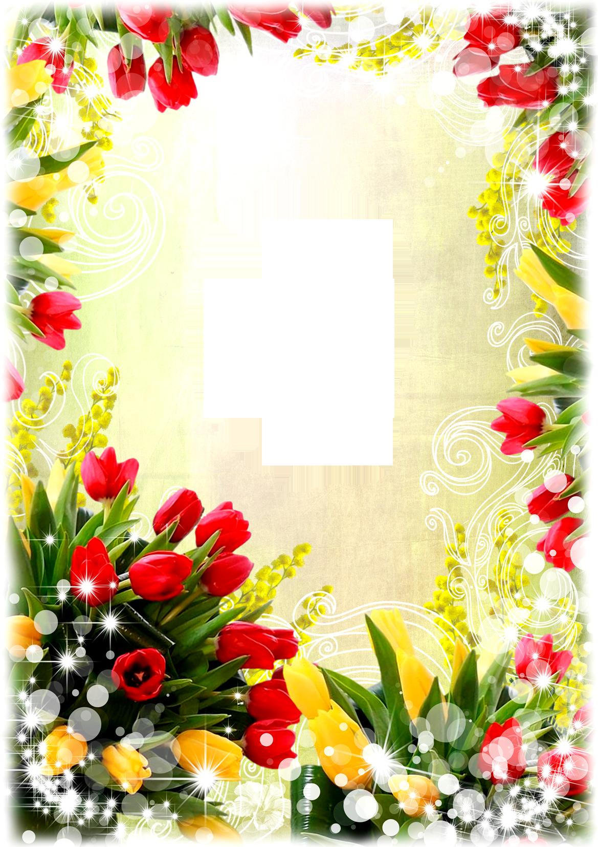 Flower Frame Png With Transparent Pictures - 5644 - TransparentPNG