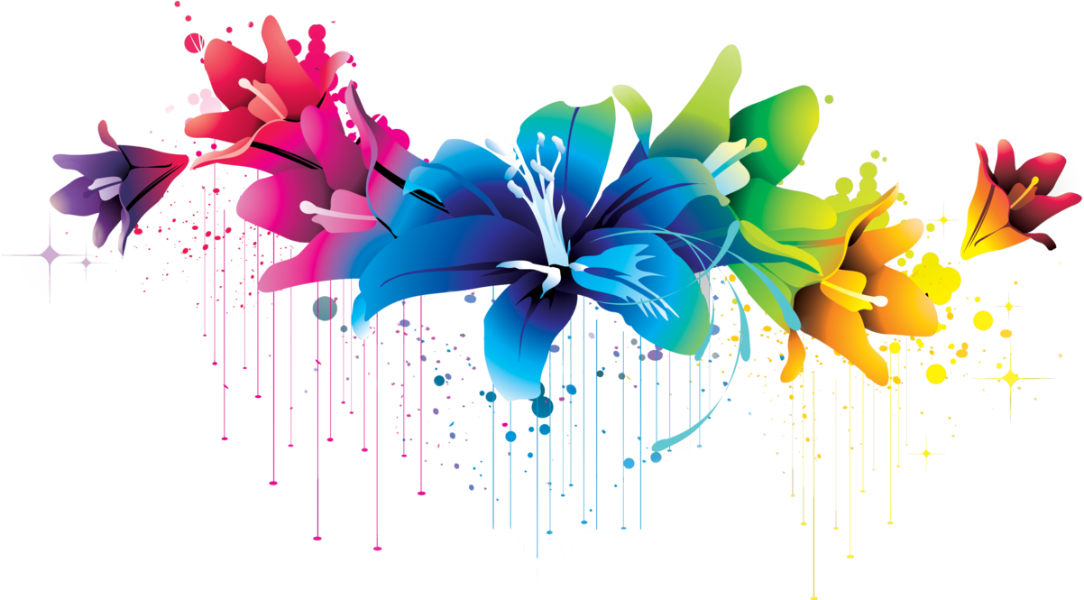Colorful Flower Vector Clipart Png 4771