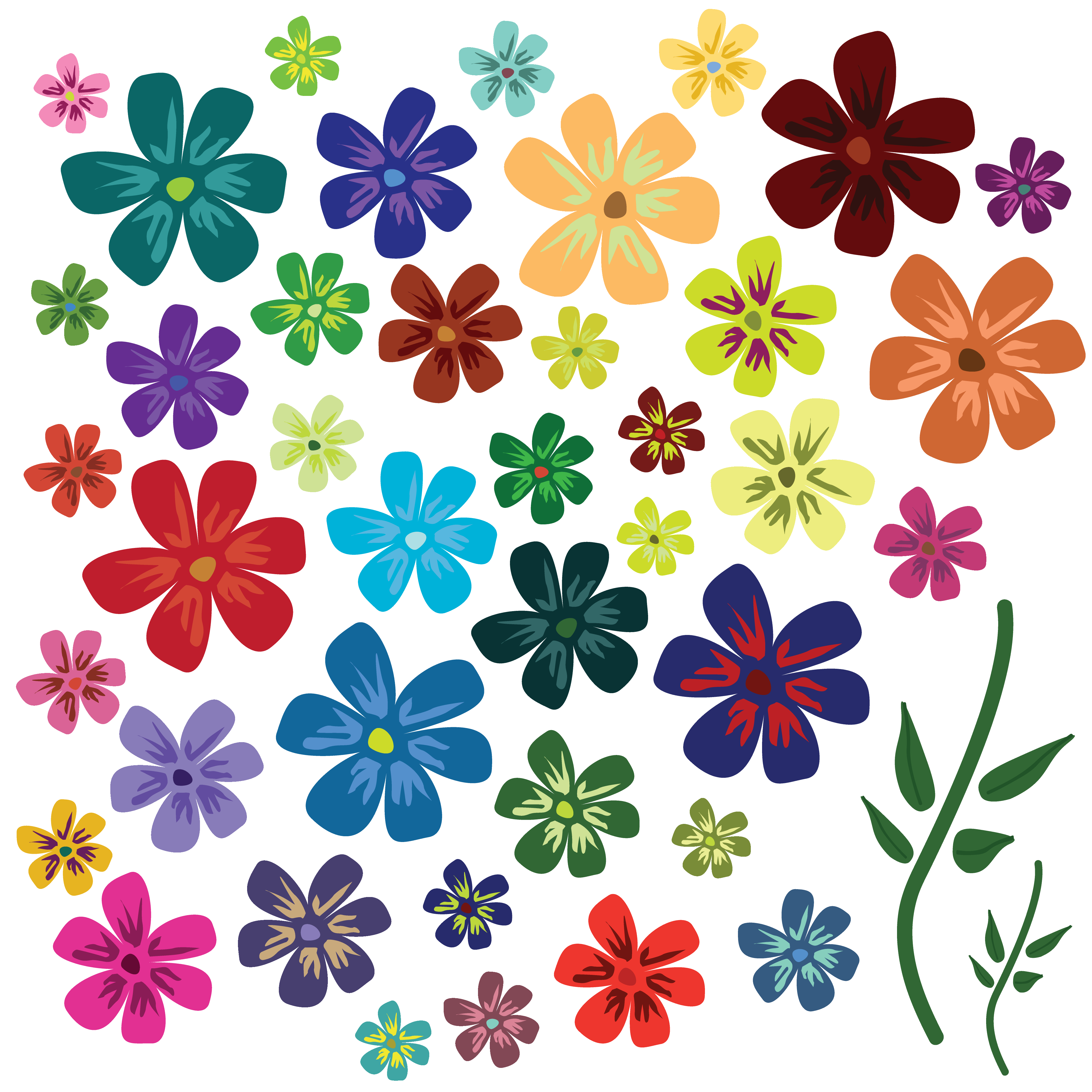 Colors Flowers Vectors Picture