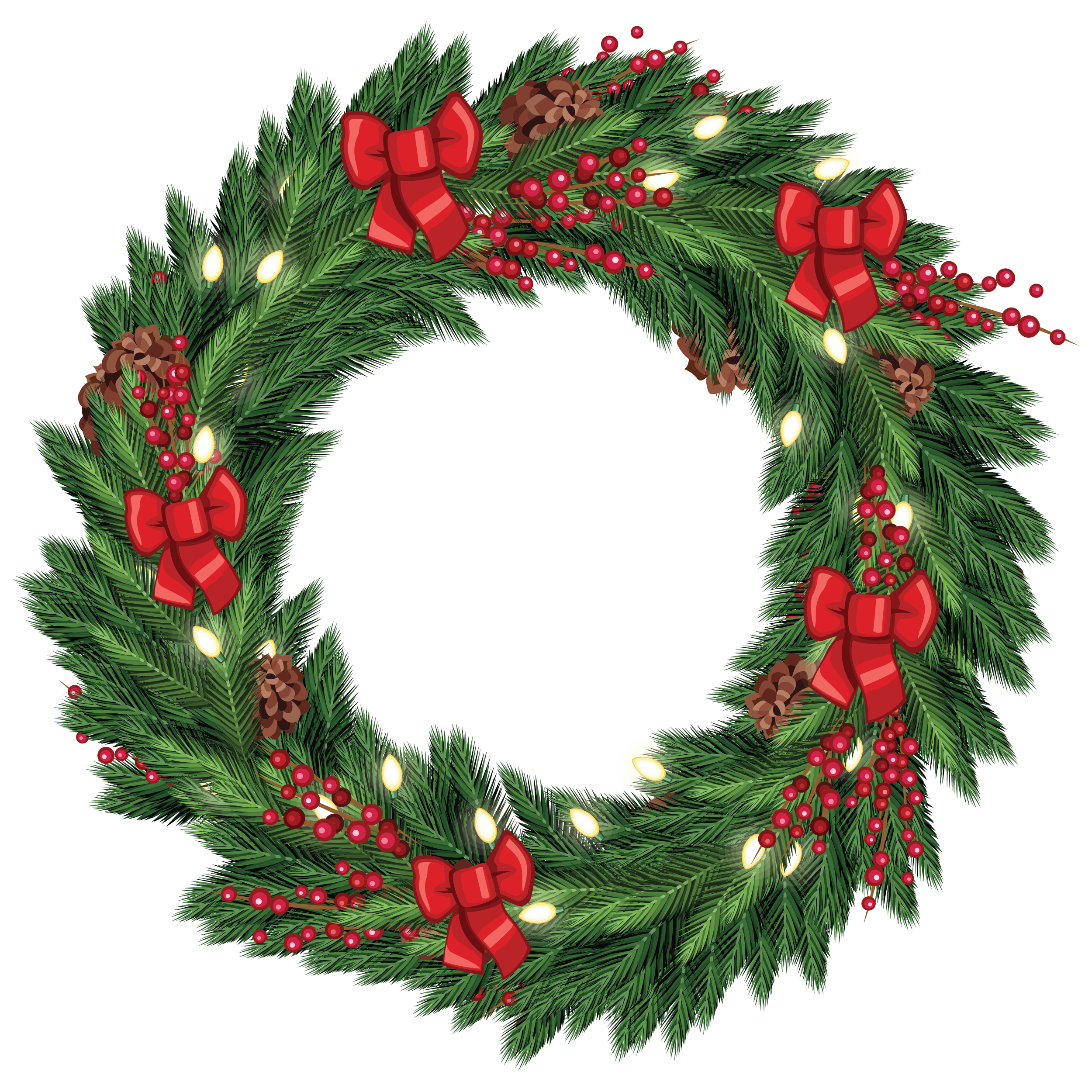 Christmas Wreath Graphic From Tradigitalart Pictures 5740
