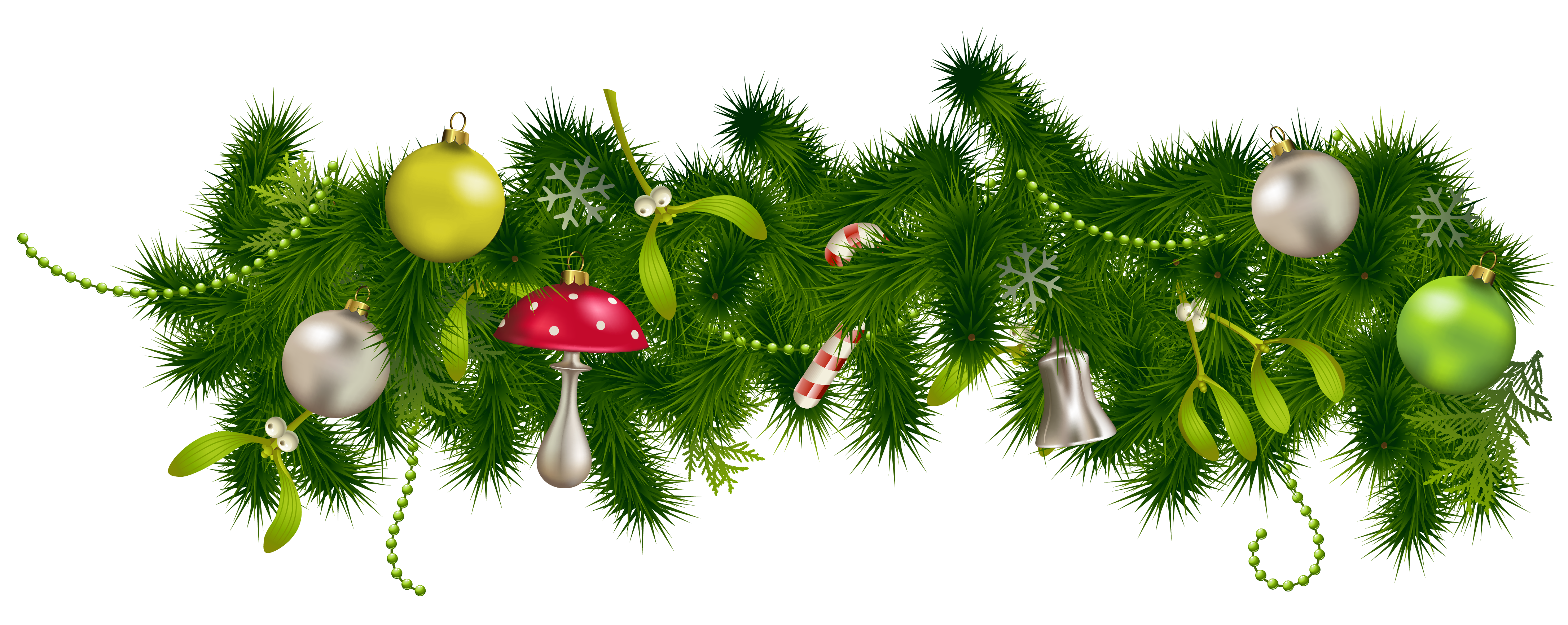 Christmas Decorations Clipart Borders Png Images 5722