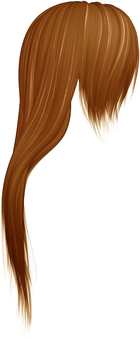 Caramel Color Long Drawn Hair Clipart, Drawing 27868