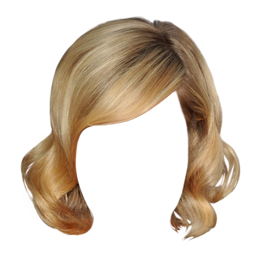 Blond Hair Blond Brunette Hair Curly Wavy Short Hair Png