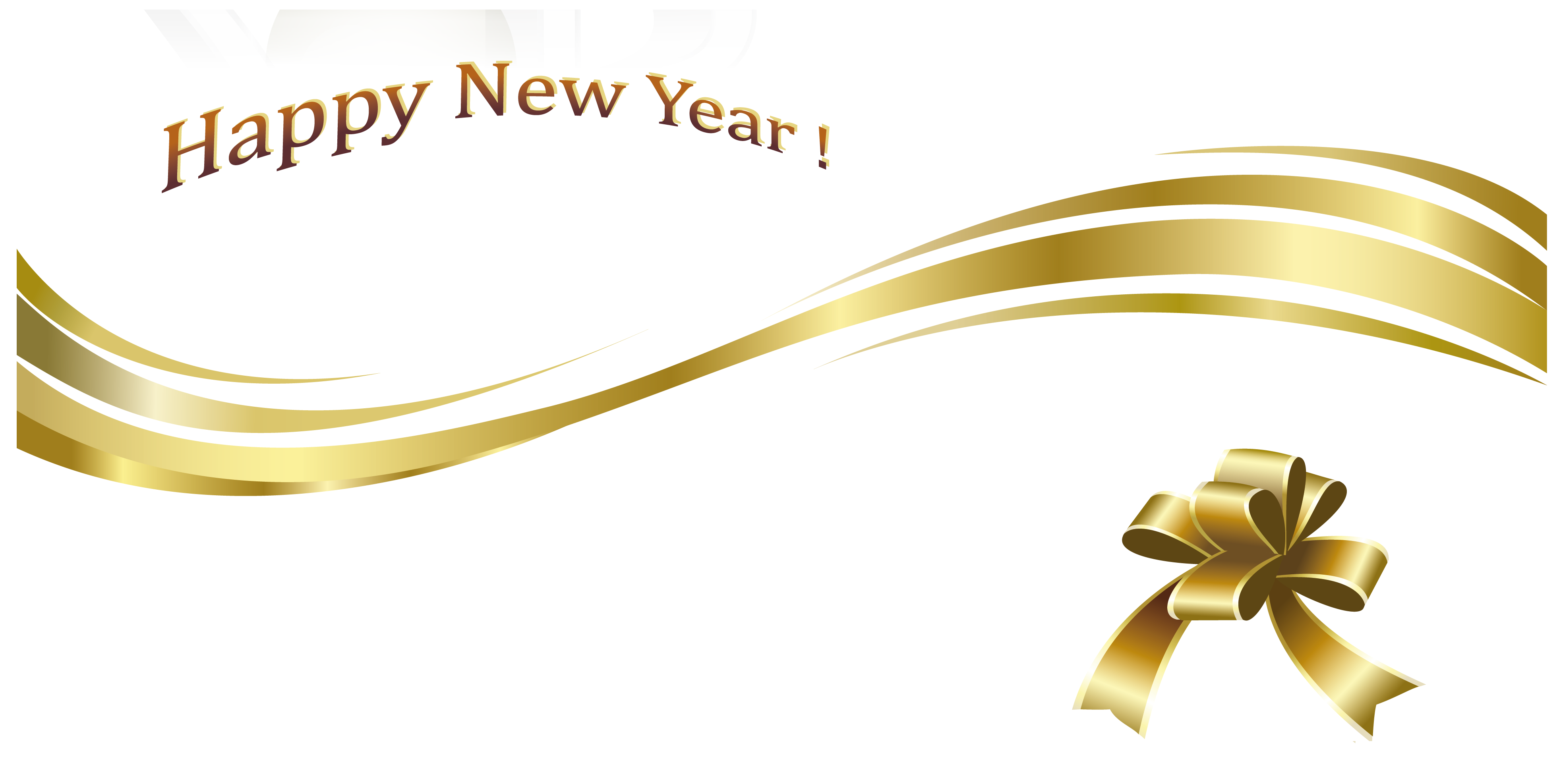 Gold New Year Png Images Happy Holidays Pictures