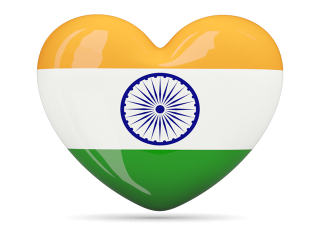 Heart Icon Illustration Of Flag Of India 6845