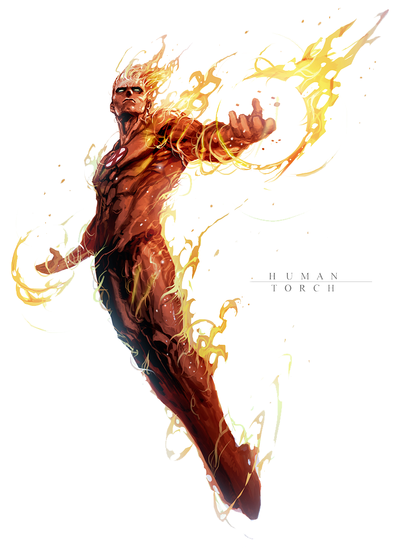 Human Torch Png File Image 4516