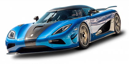 Blue Koenigsegg Free Cut Out 12646