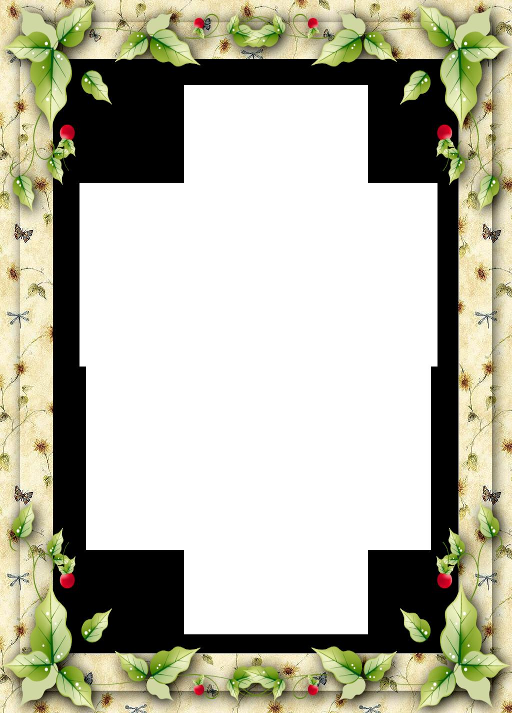 Leaf Frame Transparent Picture - 17611 - TransparentPNG