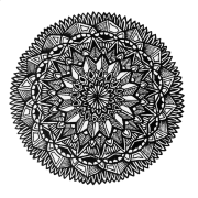 Doodle, Flower, Hindu, Indian, Mandala, Yoga, Zen Transparent Images  6009