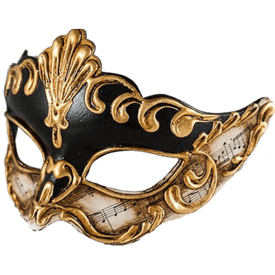 Gold Carnival Mask Transparent Png 471