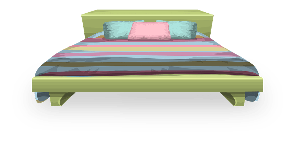 Drawer, Cover, Bed Sheet Pillow, Hospital Bed, Sleep, Soft, Cover, Large Green Bed Transparent Png 2849