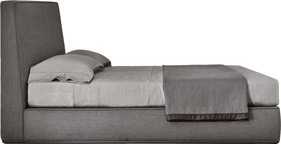 Grey Bed, Leather Heading Wooden, Cushion Pillow, Chipboard, Png 2835