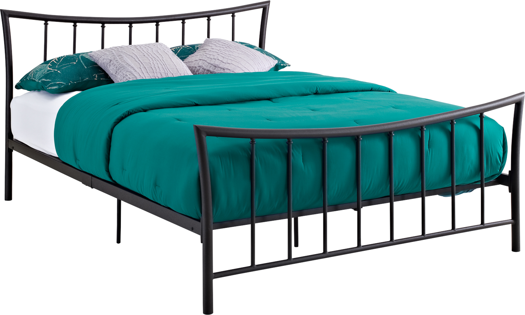 Iron Bed, Bed, Mattress White Bed, Green Bed Png 2828