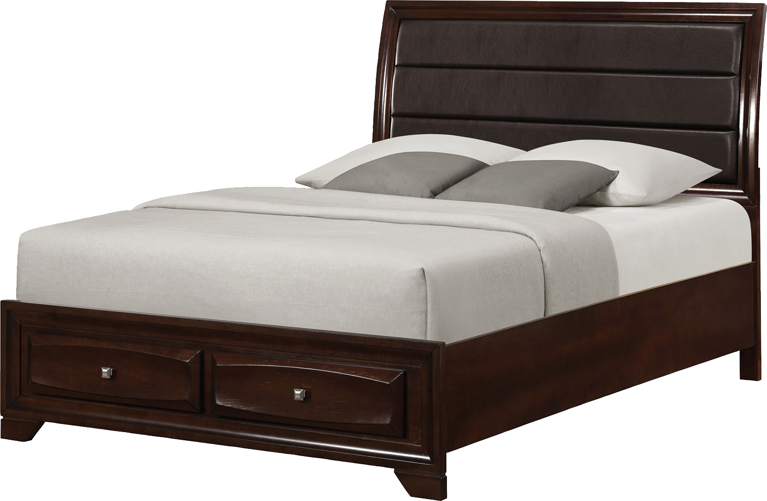 Withdrawable Bed, Luxe Bed, Leather Cap, Dark Bed Png 2829
