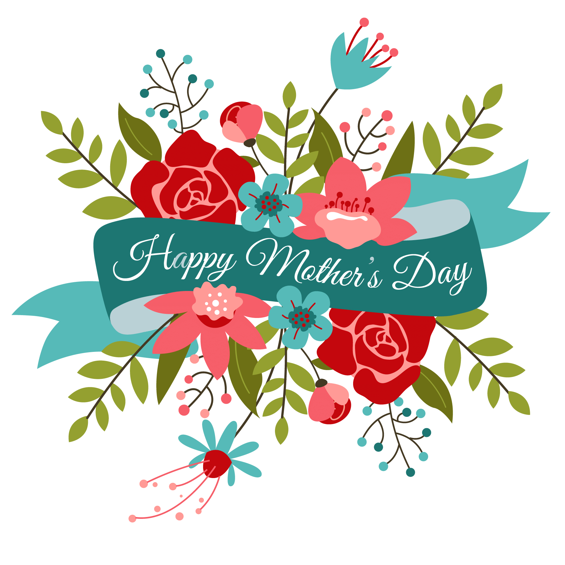 Happy Mothers Day Bouquet Transparent Png 4539