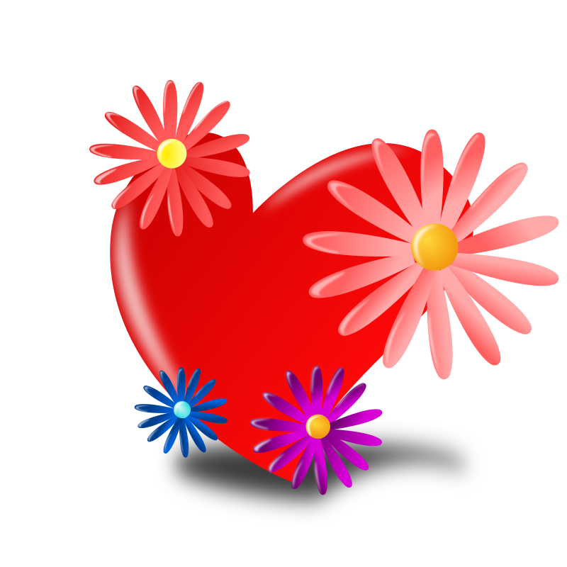 Heart, Flowers, Red, Mothers Day Icon Png 4541