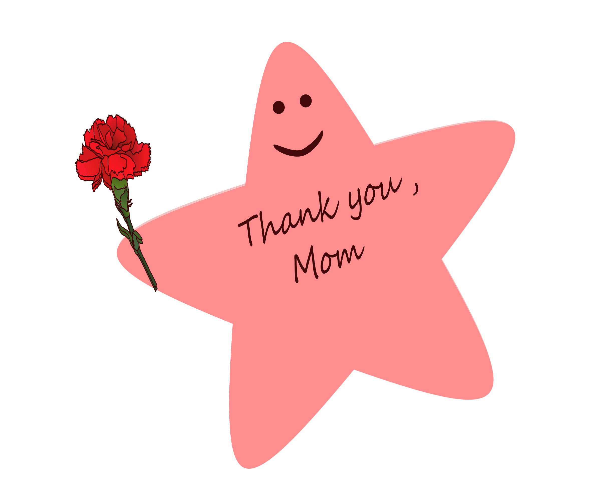 Star Pink Mothers Day Clipart 4555