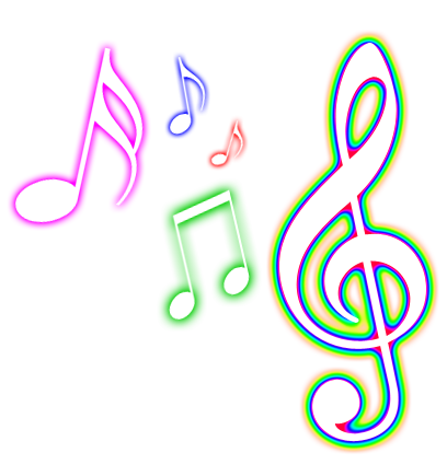 Colorful Musical Notes Png 6094