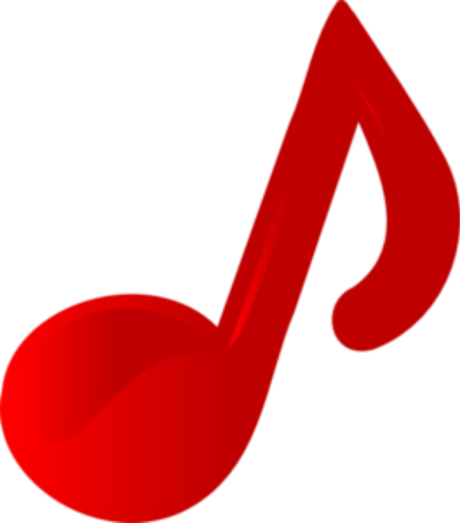 Music Note Red Images Clip Art  3774