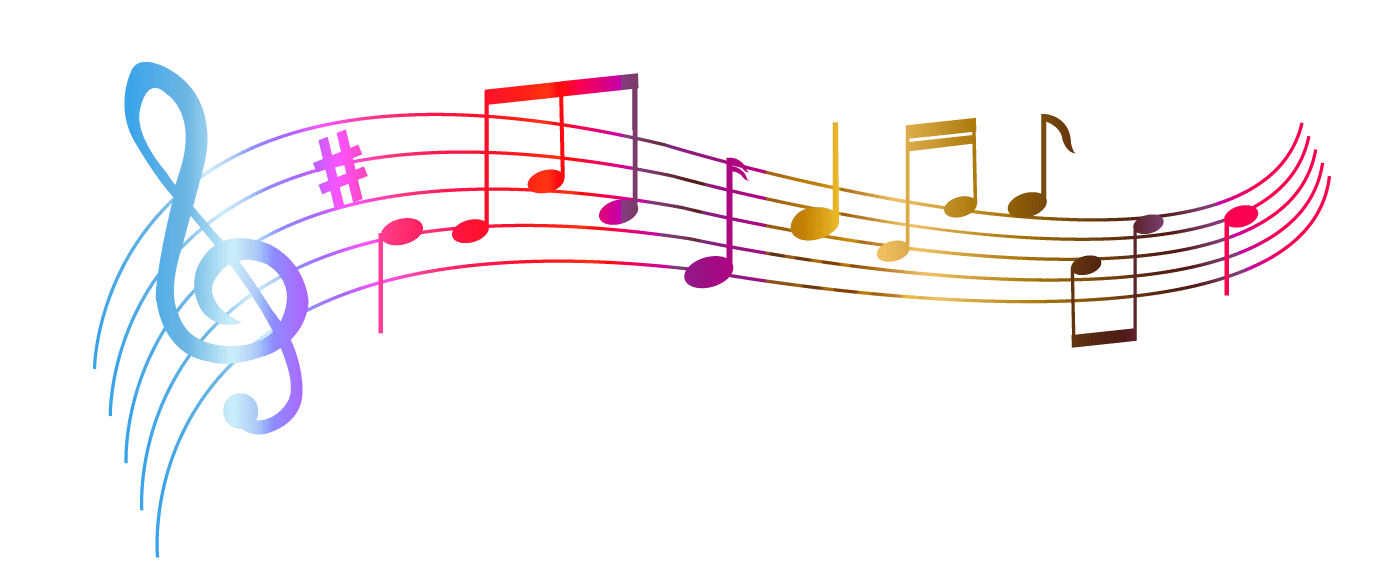 Music Notes Colourful Transparent Png 3748