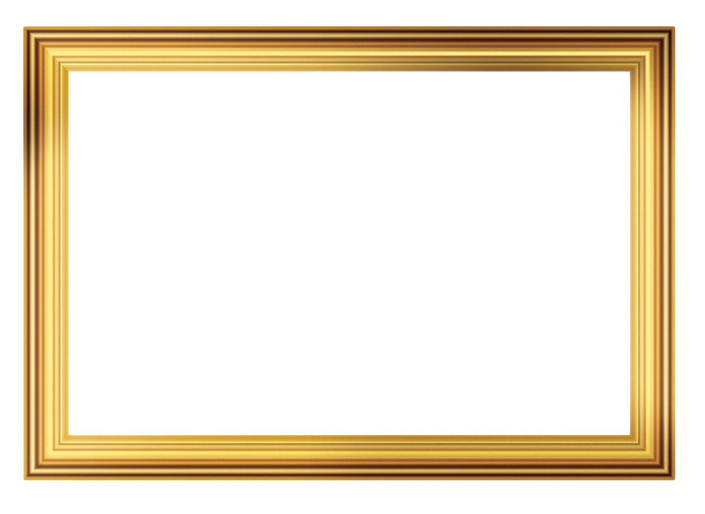 PNG Gold Frame Picture 27836